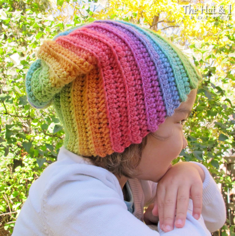 Free Swirl Heart Crochet Pattern : CROCHET PATTERN Lollipop Swirl colorful crochet slouchy