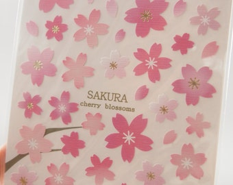 Japanese Cherry Blossoms Sticker (1 Sheet) - 75329