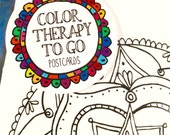 Color Therapy To Go, Coloring, Postcards, Doodles, Mandalas, Adult Coloring