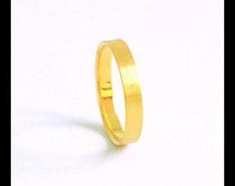 Minimalist wedding band-Solid gold fairtrade-Unisex wedding ring-Bespoke-Yellow Rose Red or White gold, Ecological & Sustainable jewelry