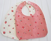 SWEET NATURALS/Organic Line/Baby Bib/Infant--18 mo./Set of Two Bibs/Everyday Party/Organic Fleece Back