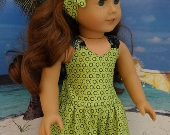 Retro romper for American Girl or similar 18 inch doll.
