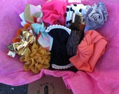 Box of the Month-SURPRISE Poncho.Dean- Headbands Baby Toddler Teen Hair Clips