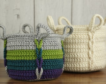 Crochet Pattern ~ Entwined Basket ~ Crochet Pattern