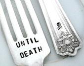 Until Death Do Us Part Forks  - Wedding Forks - Majestic 1928