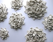 Set of Three LARGE Sized flowers of your choice