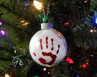 Supernatural Destiel Glass Christmas Ornament