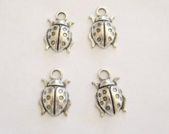 Large Lady Bug Charms-Pewter Lady Bug Charms-Large Pewter Lady Bug~ Charms~Pewter Lady Bug, Cute Lady Bug, Cute Bugs, Gemsalad