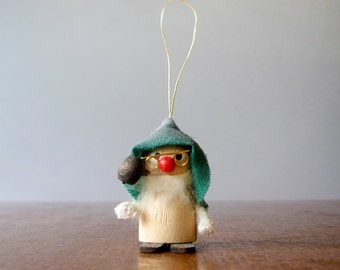 Mid Century Christmas / Holiday Ornament - Scandinavian Style Elf / Tomte / Gnome