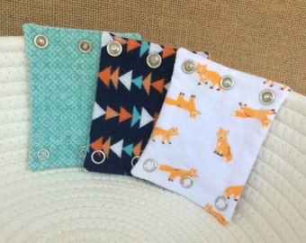 BODYSUIT EXTENDERS - Expanders. Add a size to baby's bodysuit. Also great for cloth diaper babies! Fits Carter's and all major brands!
