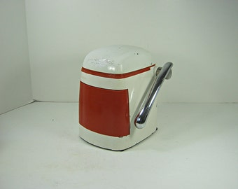 Vintage JUICE-O-MAT Citrus JUiCER Rival Creamy White w/ Red Retro Kitchen WORKS Great!