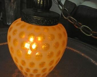 Vintage Mid Century Hollywood Regency Glass Lamp