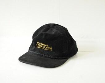 Vintage Black Corduroy Cap