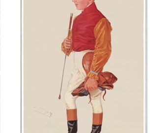 Horse Racing Print of Jockeys on Archival Watercolor Paper. Racing Stables Interior Design Complete Range and Sizes. Discount for Multiples