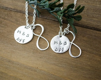 Best Friends Necklaces - Sterling Silver Infinity Necklaces | Set of 2