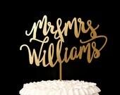 Wedding Cake Topper - Custom Cake Topper for Wedding Cake Gold Mr and Mrs - Revelry Collection