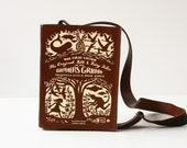 Grimm's Fairytale Classics Brown and Beige Leather Book Bag