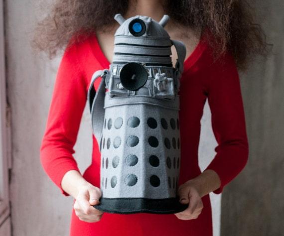 Dalek bag Doctor Who Grey Felt Bag Geekery