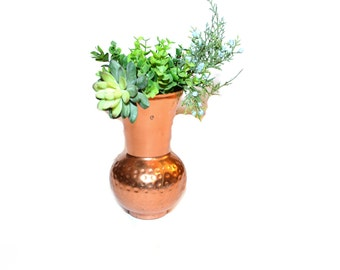 Copper Vase Copper Container Bud Vase Mid Century Modern Vase Industrial Vase Wedding Vase Copper