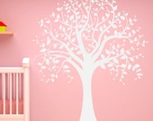 Tree Wall Decal-Vinyl Large Tree Decals For Nursery-Large Tree Decals-Removable Tree Sticker-White Tree Decals-Living Room Tree Sticker