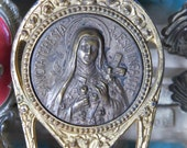 Antique French St THERESE Shrine and NIcho-  Perfect for your religious altar