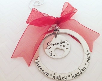 Gifts for Grandma - Christmas Gifts for Grandmother - Christmas Gifts -  Ornaments from Grandkids - The Charmed Wife - Christmas Decor