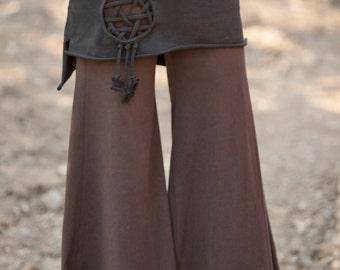 Dream Catcher Star Skirt - Longer Back - Elven Forest, Celtic Knot, Seed of life, Festival Clothing, Gypsy clothing, mini skirt