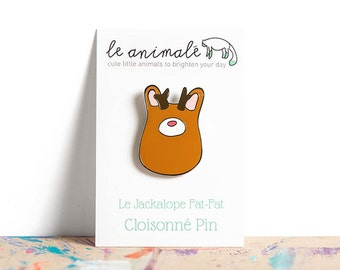 Animal Pins, Jackalope, Enamel Pin, Jackalopes, Unusual Animals, Curiosities, Gifts Under 20, Gifts Under 15, Small Gifts for Friends