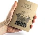 Small Notebook Ron Swanson Typewriter