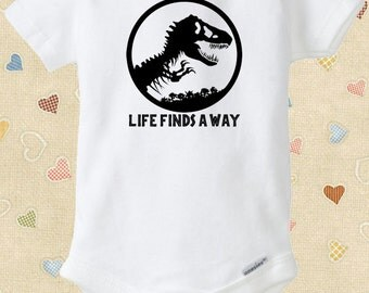 Jurassic Park Baby Onesie Life Finds a Way