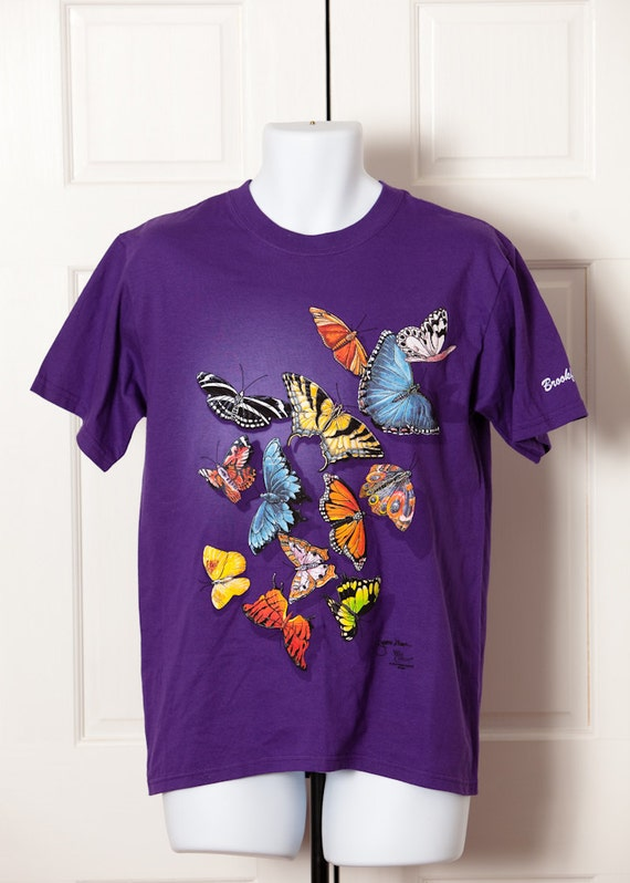 Butterfly tshirt brookfield zoo purple shirt bright colors for Bright purple t shirt