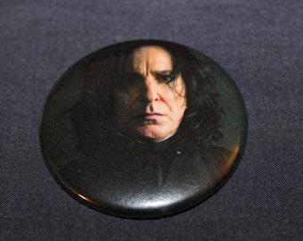 "Severus Snape Alan Rickman Pinback Button or Magnet 2.25"""