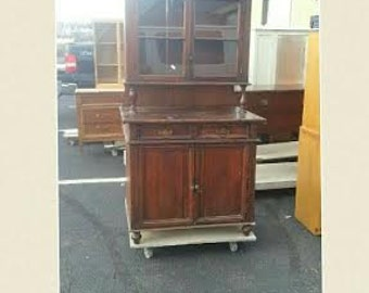 Vintage Shabby Chic Hutch, Pantry, China Cabinet, Kitchen Storage choose your color. PICKUP & LOCAL DELIVERY