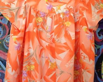 Vintage Hawaiian Orange Muumuu