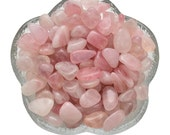 12 Small Gem ROSE QUARTZ Tumbled Stones for Jewelry & Crafts Healing Crystals aka Love Stone #W1
