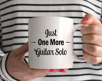 Just One More Guitar Solo Mug