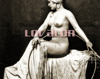 MATURE... Circle Dreams... Deluxe Erotic Art Print... 1920's Vintage Nude Fashion Photo... Available In Various Sizes