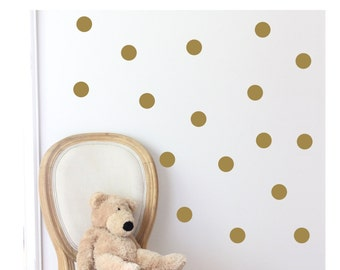 Gold Dot Decals | Gold Dot Stickers | Polka Dot Peel and Stick Vinyl Decal Sets | DIY Gift