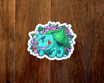 Bulbasaur with Flowers Sticker from Pokemon