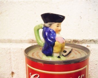 Miniature toby jug mug stein figurine wee tiny vintage made in Japan man figurine dollhouse decor collectible