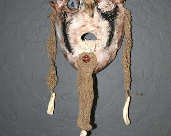 Bluetooth Viking Ironsides Medieval Plaster Wall Art Mask Cloth Sculpture