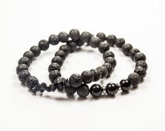 Balance - Discipline - Willpower - Inner strength - Onyx - Essential Oil diffuser bracelet