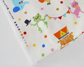 Kids Fabric, Nursery Fabric, Circus Fabric, Japanese Cotton Fabric