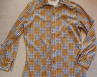 vintage JACK WINTER BLOUSE button up shirt 70's xs S