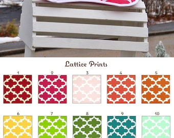 MADE TO ORDER Lattice Print Saddle Pad Memory Foam Half Pad and Cover Many Colors