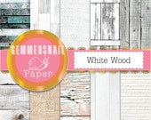 Wood digital paper, white wood backgrounds 'white wood' 10 rustic wood digital papers