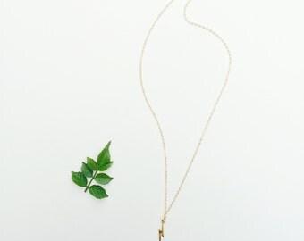 14k Gold Filled Lightning Bolt Charm Necklace