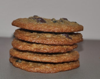 12 Chocolate Chip Cookies Wheat Free Fresh  Healthy  12 Edible  Holiday Gift !!!