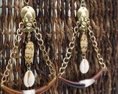 African Queen Mask Dangle Earrings