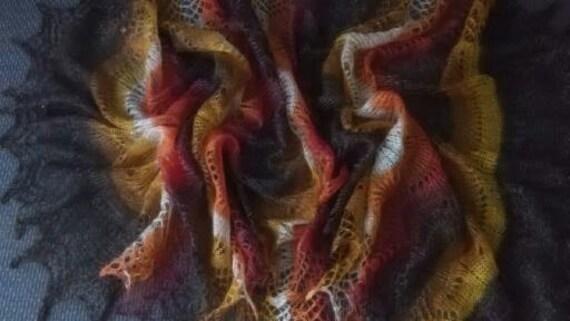Versatile Foxy Colored Orenburg Shawl